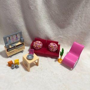 Barbie Mattel 2005 Living Room Set
